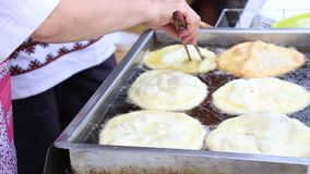 Fried pies stock footage
