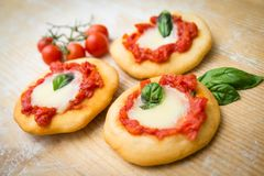 Fried Pizzas, Naples Food Royalty Free Stock Image