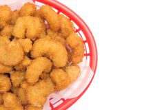Fried Popcorn Shrimp Arkivfoto