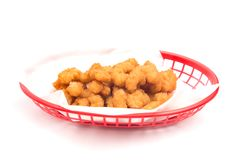 Fried Popcorn Shrimp Royaltyfri Fotografi