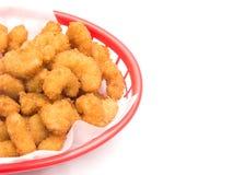 Fried Popcorn Shrimp Stock Afbeelding
