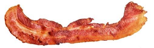 Fried Pork Bacon Rasher Isolated no fundo branco imagens de stock
