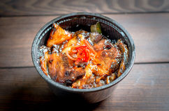 Fried pork in a bowl Royalty Free Stock Images
