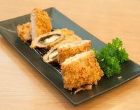 Fried pork with cheese Royalty Free Stock Photos
