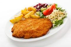 Fried pork chop Stock Photo