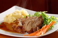 Fried pork chop, mashed potato Royalty Free Stock Photography