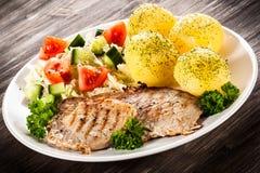 Fried pork chop Stock Photos