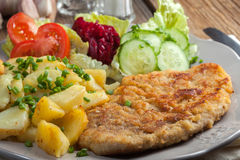 Fried pork chop. Royalty Free Stock Images
