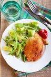 Fried pork chop and salad Stock Image