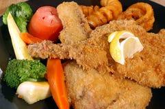 Fried pork chops stock photography