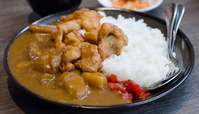 Fried pork curry ,Traditional Japanese food Stock Images