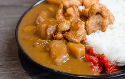 Fried pork curry ,Traditional Japanese food. Close up Fried pork curry ,Traditional Japanese food stock photo