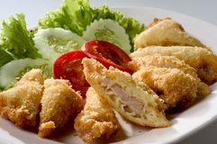 Fried pork cutlet Stock Images