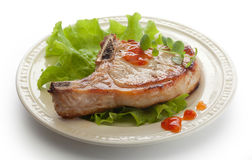 Fried pork cutlet Royalty Free Stock Images