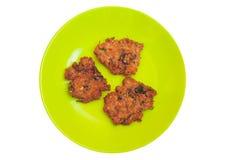 Fried Pork ed erba Fotografia Stock
