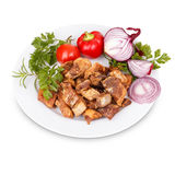 Fried pork greaves Stock Photography