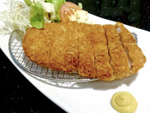 Fried pork  japanese style Stock Photo