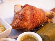 Fried pork leg Royalty Free Stock Photography