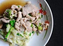 Fried pork and lettuce Stock Image