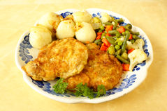 Free Fried Pork Loin Chops Royalty Free Stock Image - 8842336