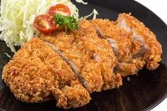 Fried pork meat. Japanese food style tonkatsu Stock Photography