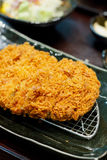 Fried pork meat. Japanese food style tonkatsu Royalty Free Stock Images