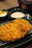 Fried pork meat. Japanese food style tonkatsu Stock Images