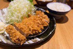 Fried pork meat, Japanese food, Tonkatsu style. Fried pork meat, Japanese food Tonkatsu style Stock Image