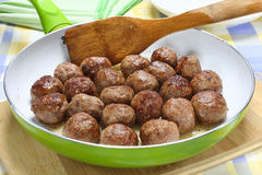 Fried pork meatballs Stock Photos