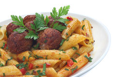 Fried pork meatballs Royalty Free Stock Images