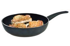 Fried pork medallion Stock Photo