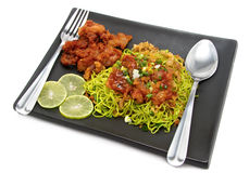Fried pork noodles Royalty Free Stock Images