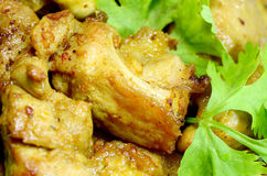 Fried Pork Ribs. Stock Afbeeldingen