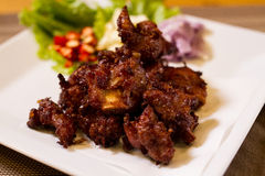 The Fried Pork Ribs. Royalty Free Stock Images