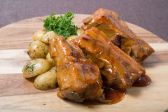 Fried pork ribs Royalty Free Stock Images