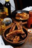 Fried pork ribs Stock Photography
