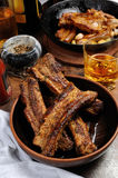 Fried pork ribs Royalty Free Stock Photos