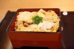 Fried pork on rice butadon Stock Images