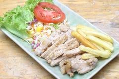 Fried pork salad Stock Photos