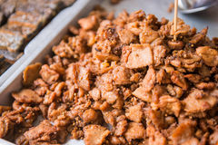 Fried pork for sale in market Stock Photography
