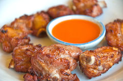 Fried pork with sauce Royalty Free Stock Image