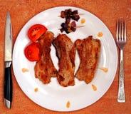 Fried pork Stock Photo