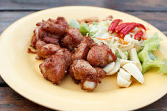 Fried pork spare rib , thai style Royalty Free Stock Image