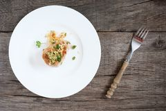 Fried pork tenderloin with marjoram and flour Royalty Free Stock Image
