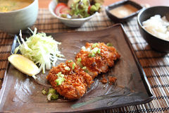 Fried pork tonkatsu Royalty Free Stock Photos
