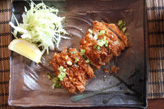 Fried pork tonkatsu Royalty Free Stock Images