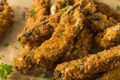 Fried Portabella Mushroom Fries panado caseiro Imagens de Stock Royalty Free