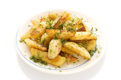 Fried potato Stock Photo