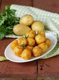 Fried potato balls (croquettes) royalty free stock image