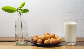 Fried potato balls Stock Photos